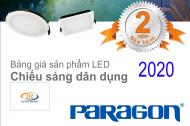 Bảng giá đèn led dân dụng Paragon mới nhất 2020