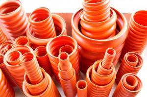 Ống ruột gà cam HDPE